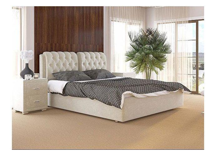 Кровать Como 5 Орматек (ткань и экокожа) Лофти лен