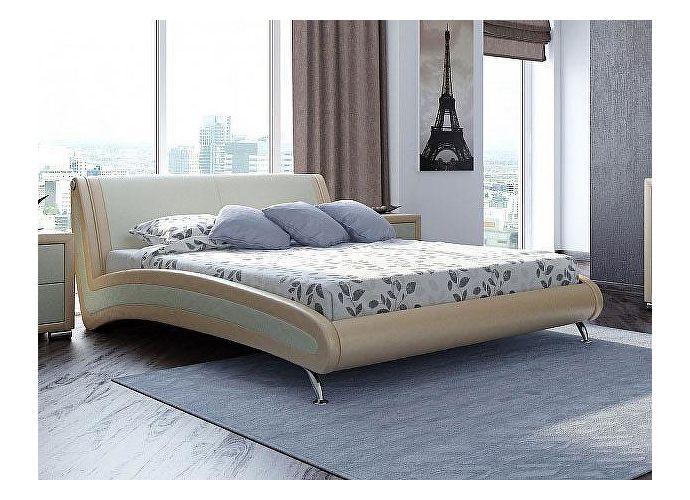 Кровать Орматек Corso-2 цвета люкс бежевый перламутр (5062)/молочный перламутр (5061)