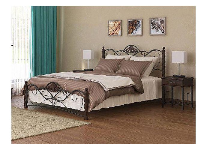 Кровать Garda 2R венге/металл