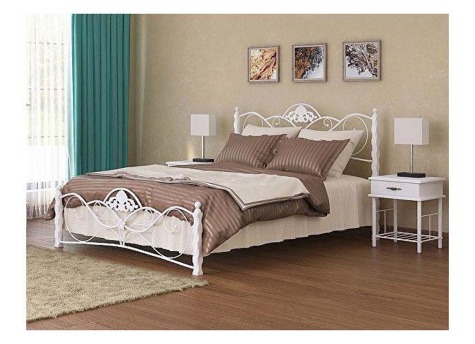 Кровать Garda 2R белый/белый металл