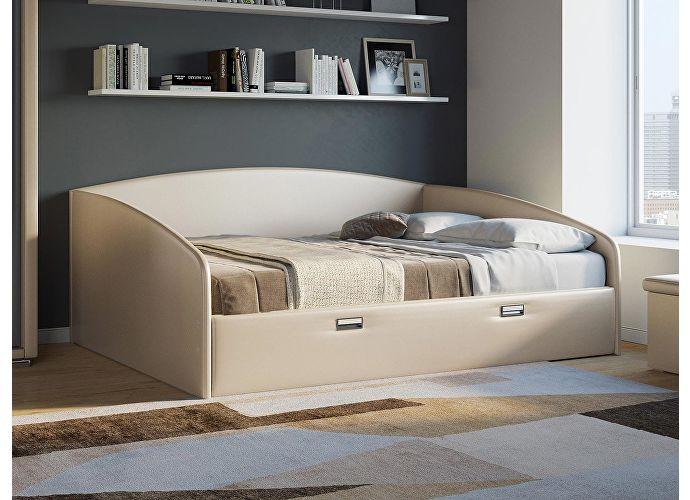 Кровать Орматек Bono (цвета люкс и ткань) Бежевый перламутр 5062 (экокожа)