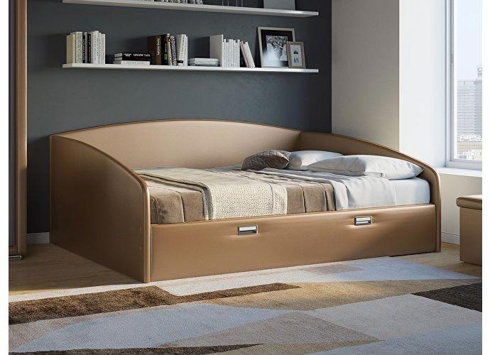Кровать Орматек Bono (цвета люкс и ткань) Медный перламутр (Brown)