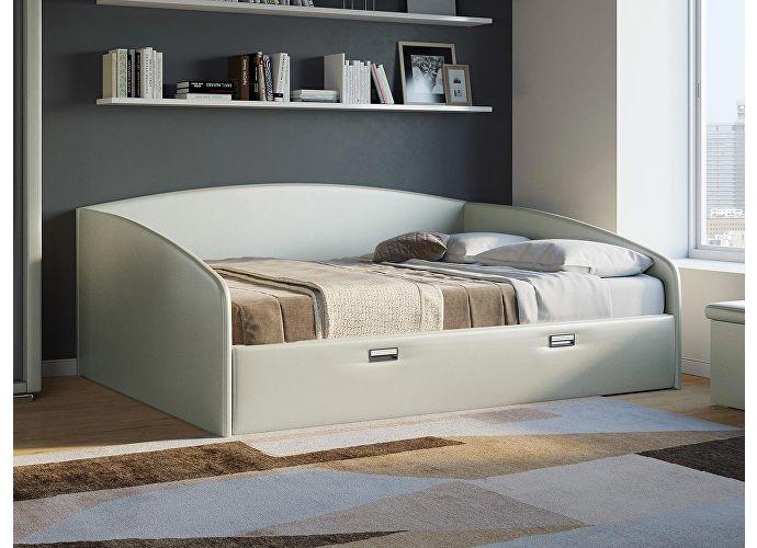Кровать Орматек Bono (цвета люкс и ткань) Молочный перламутр 5061 (экокожа)