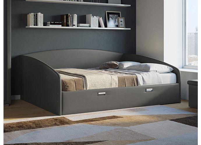 Кровать Орматек Bono (цвета люкс и ткань) Кайман черный (20391)