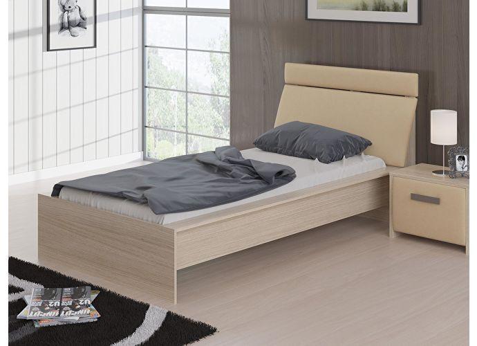 Кровать Домино Орматек дуб шамони/бежевый