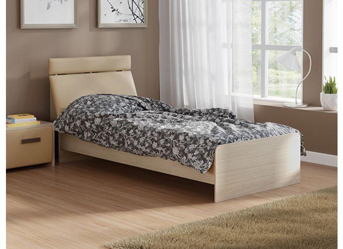 Кровать Домино 2 Орматек дуб шамони/бежевый