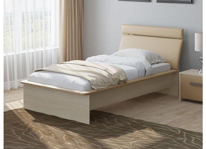 Кровать Райтон Визио 1 дуб шамони/бежевый