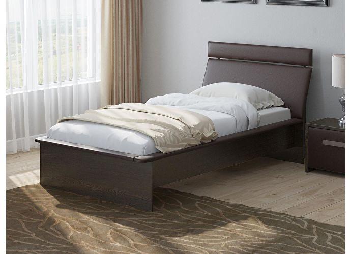 Кровать Райтон Визио 1 дуб венге/коричневый