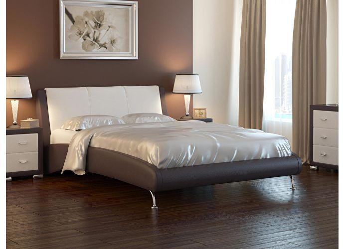 Кровать Nuvola 2 коричневый/бежевый