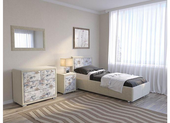 Кровать Como 2 Орматек (ткань и цвета люкс) Молочный перламутр (5061)