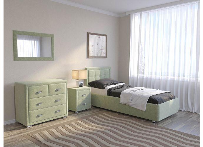 Кровать Como 2 Орматек (ткань и цвета люкс) Лофти олива
