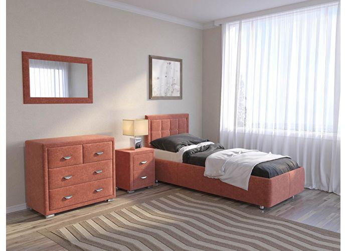 Кровать Como 2 Орматек (ткань и цвета люкс) Лофти рыжий