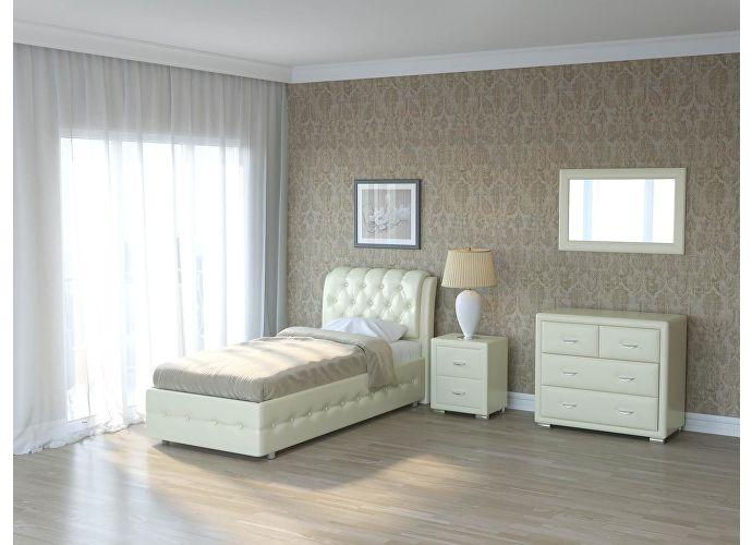 Кровать Como 4 Орматек (ткань и цвета люкс) Молочный перламутр (5061)