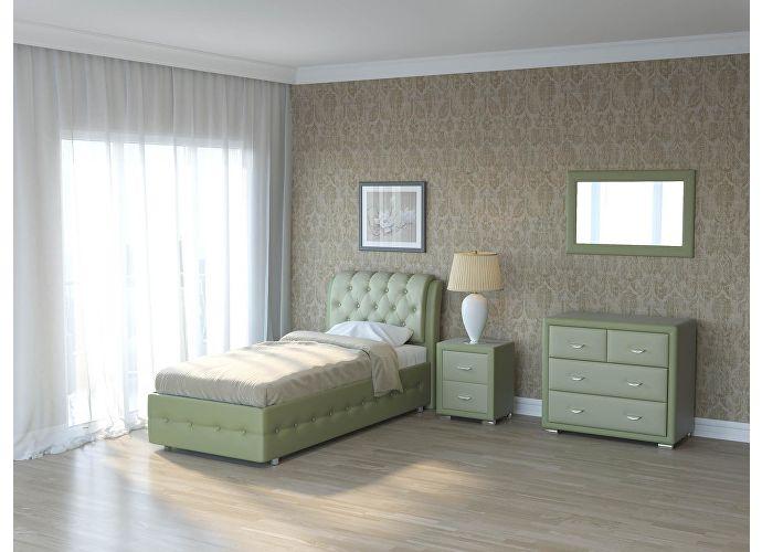 Кровать Como 4 Орматек (ткань и цвета люкс) Олива/зеленое яблоко