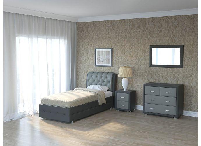 Кровать Como 4 Орматек (ткань и цвета люкс) Темно-серый/серый
