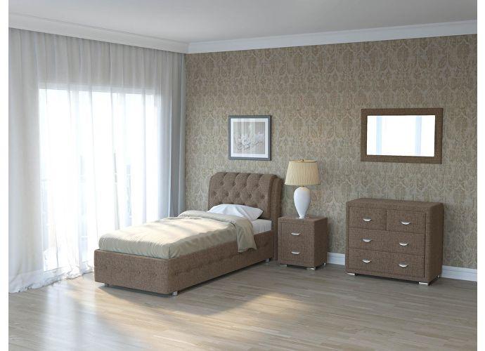 Кровать Como 4 Орматек (ткань и цвета люкс) Глазго коричневый