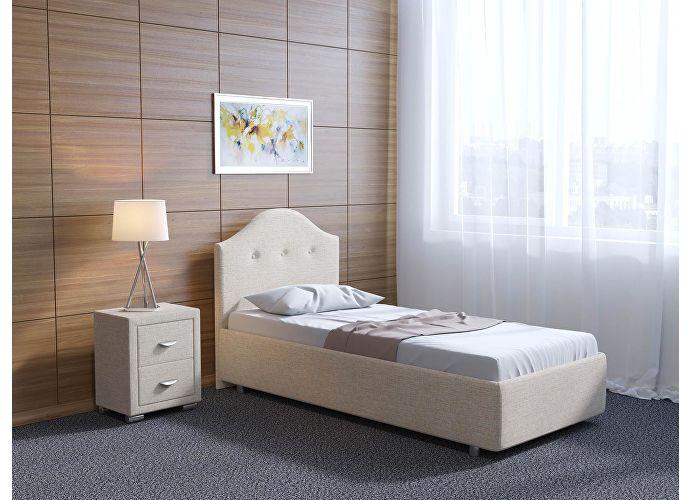 Кровать Орматек Como 7 цвета люкс и ткань Глазго бежевый