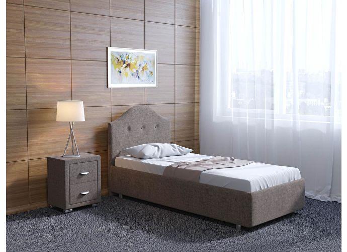 Кровать Орматек Como 7 цвета люкс и ткань Глазго коричневый