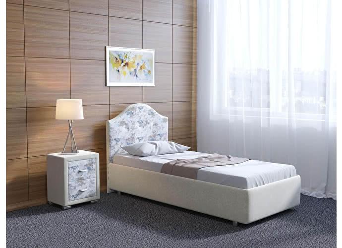 Кровать Орматек Como 7 цвета люкс и ткань Бежевый перламутр (5062)