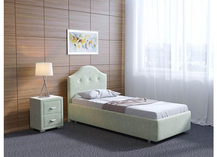 Кровать Орматек Como 7 цвета люкс и ткань Лофти рыжий