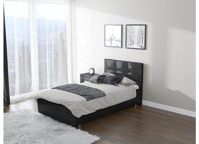 Кровать Life 1  цвета Люкс кайман черный (20391)