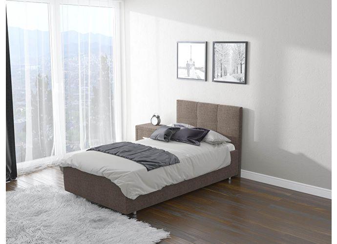 Кровать  Life 1 (ткань) Глазго коричневый
