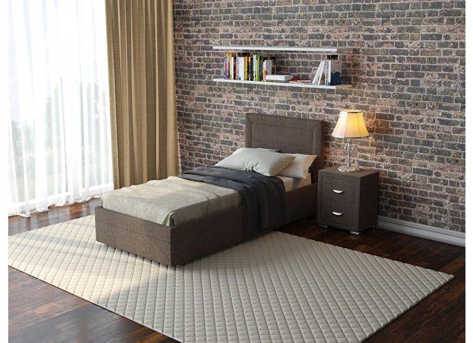 Кровать  Life 2 (ткань и цвета люкс) Глазго коричневый