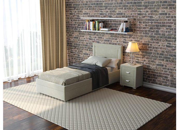 Кровать  Life 2 (ткань и цвета люкс) Лофти лен