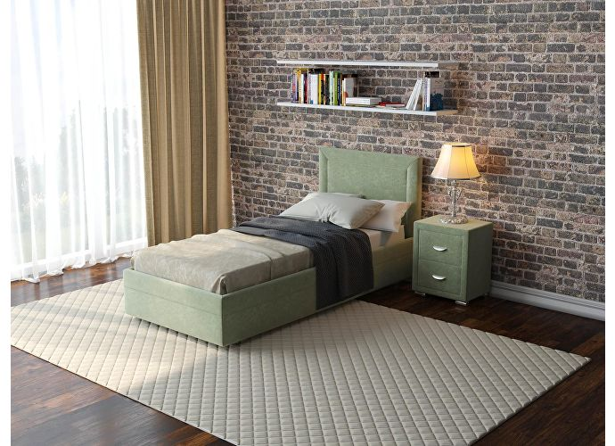 Кровать  Life 2 (ткань и цвета люкс) Лофти олива