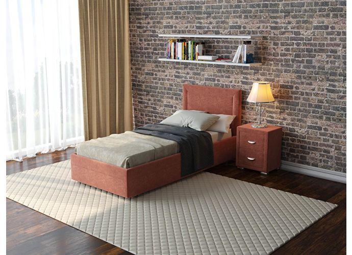 Кровать  Life 2 (ткань и цвета люкс) Лофти рыжий