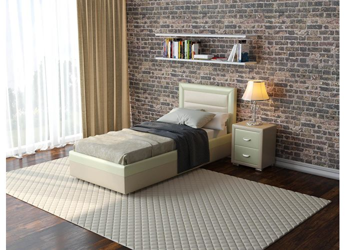 Кровать  Life 2 (ткань и цвета люкс) Олива/зеленое яблоко
