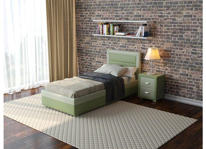 Кровать  Life 2 (ткань и цвета люкс) Темно-серый/серый