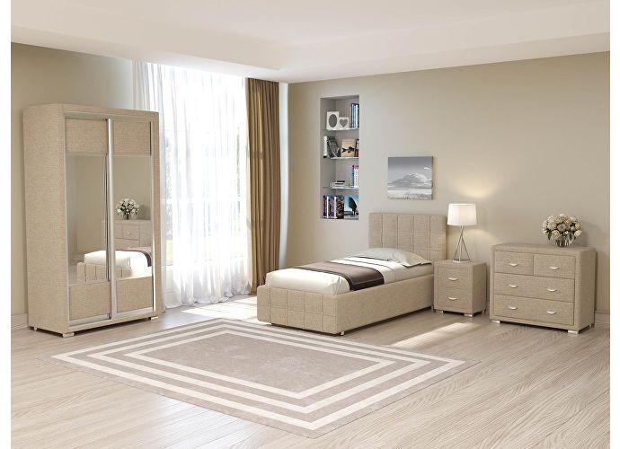 Кровать Life 3 (цвета люкс и ткань) Глазго бежевый