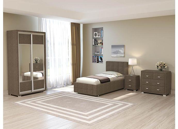 Кровать Life 3 (цвета люкс и ткань) Глазго коричневый