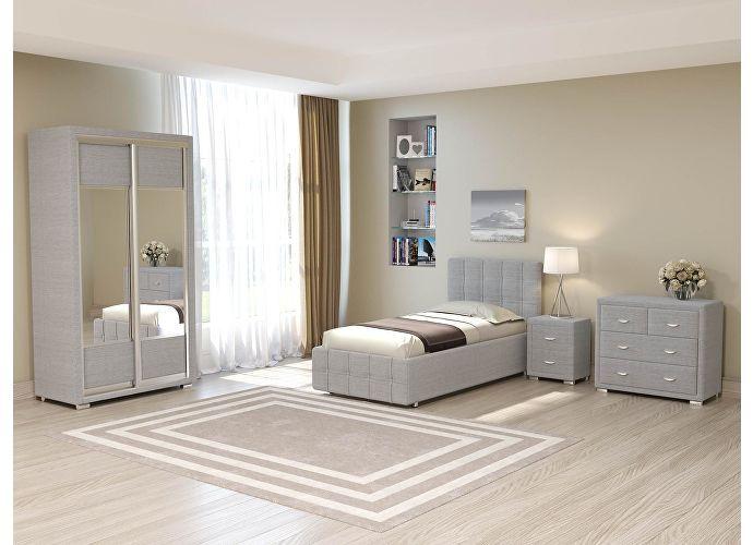 Кровать Life 3 (цвета люкс и ткань) Глазго серый