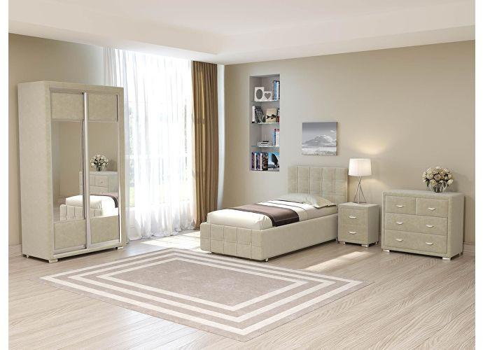 Кровать Life 3 (цвета люкс и ткань) Лофти олива