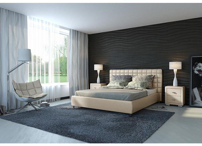 Кровать Орматек Corso-3 цвета люкс и ткань бежевый перламутр (5062)