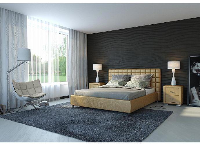 Кровать Орматек Corso-3 цвета люкс и ткань золото