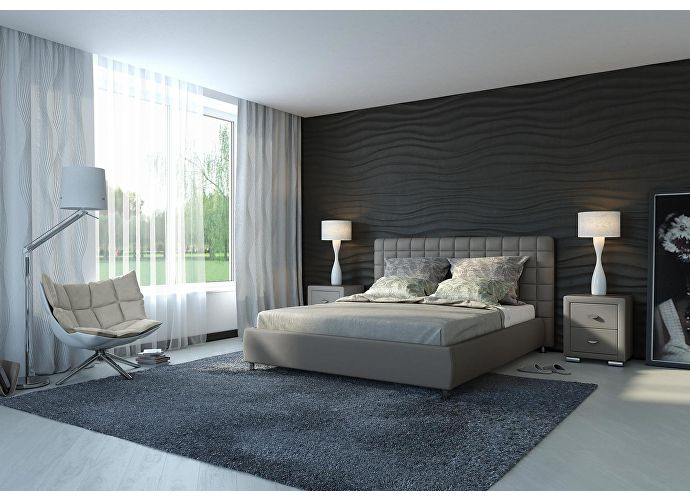 Кровать Орматек Corso-3 цвета люкс и ткань серый
