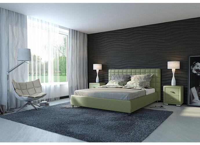 Кровать Орматек Corso-3 цвета люкс и ткань олива