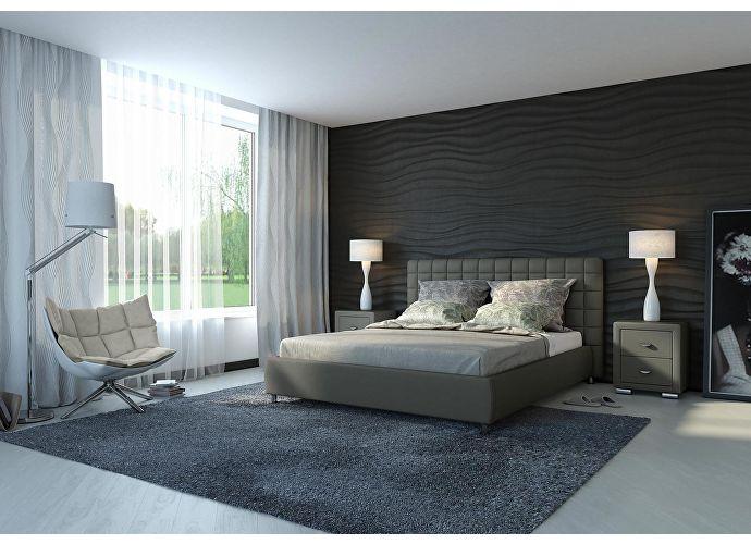 Кровать Орматек Corso-3 цвета люкс и ткань темно-серый