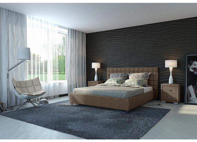 Кровать Орматек Corso-3 цвета люкс и ткань лофти олива