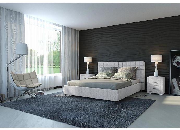 Кровать Орматек Corso-3 цвета люкс и ткань лофти лен