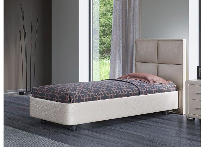 Кровать Орматек Rocky 2 цвета люкс и ткань Жемчуг Sprinter pearl (2247)