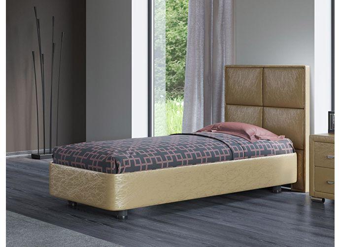 Кровать Орматек Rocky 2 цвета люкс и ткань Золото Sprinter gold (2331)