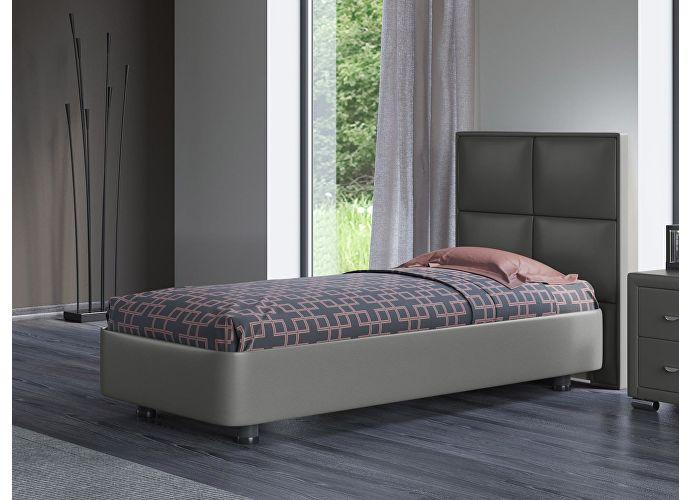 Кровать Орматек Rocky 2 цвета люкс и ткань Темно-серый