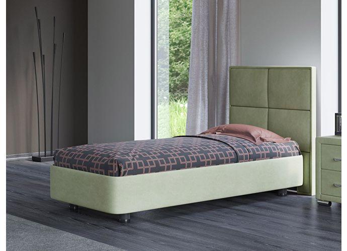 Кровать Орматек Rocky 2 цвета люкс и ткань Лофти олива