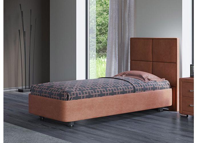 Кровать Орматек Rocky 2 цвета люкс и ткань Лофти рыжий