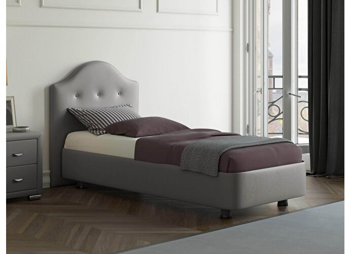 Кровать Орматек Rocky 3 цвета люкс и ткань Темно-серый