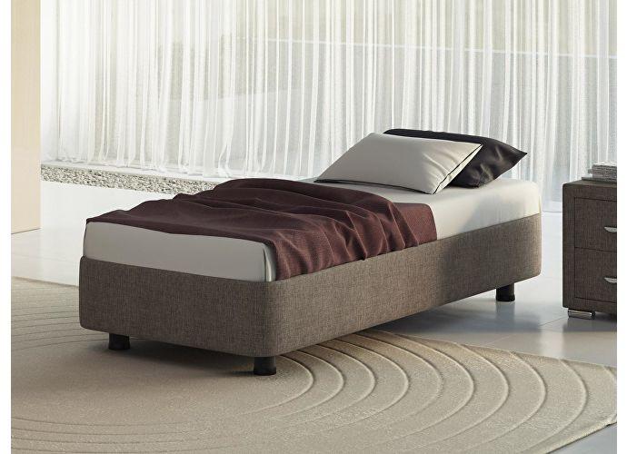 Кровать Орматек Rocky Base цвета люкс и ткань Глазго коричневый